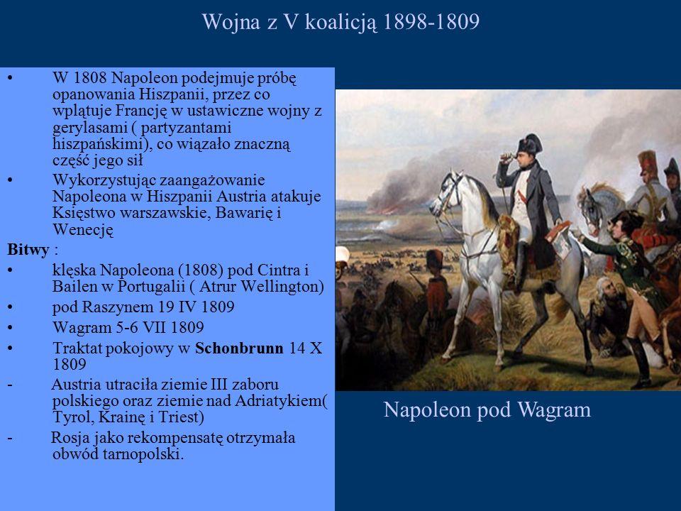 Wojna z V koalicją 1898-1809 Napoleon pod Wagram