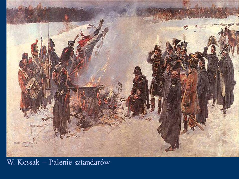 W. Kossak – Palenie sztandarów