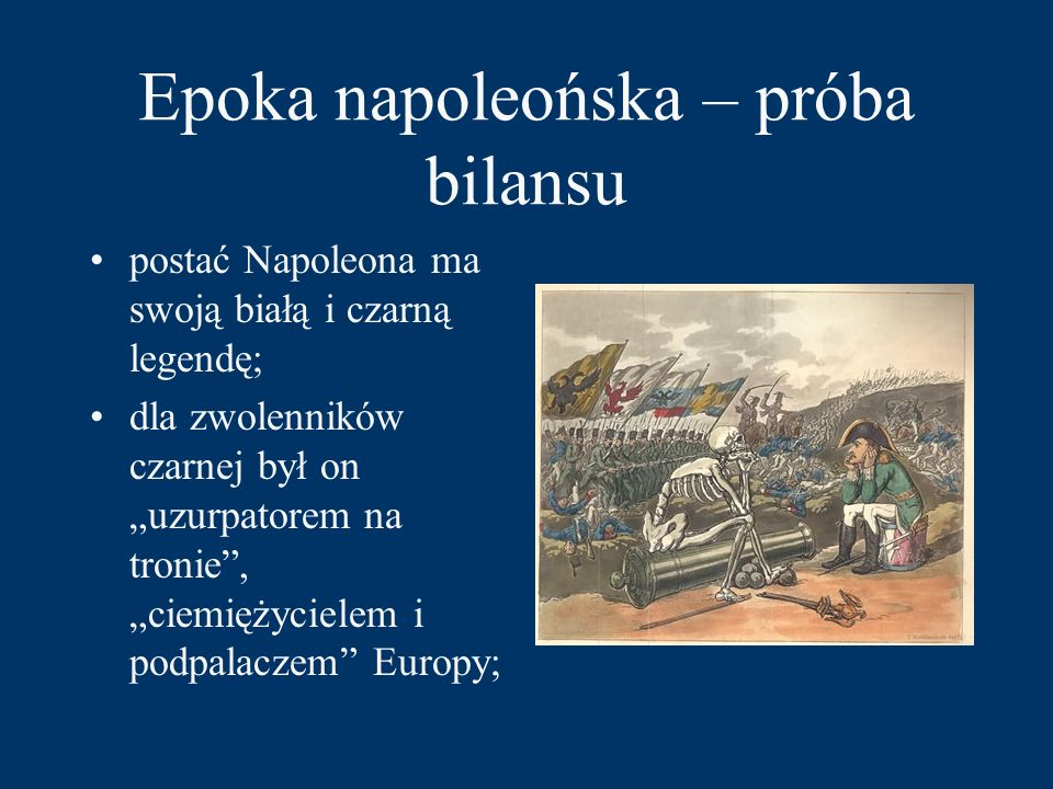 Epoka napoleońska – próba bilansu
