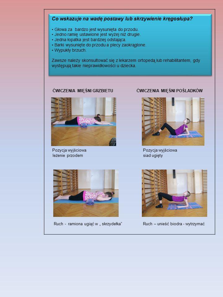 Co wskazuje na wadę postawy lub skrzywienie kręgosłupa