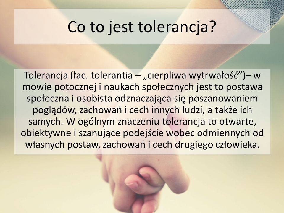 Co to jest tolerancja