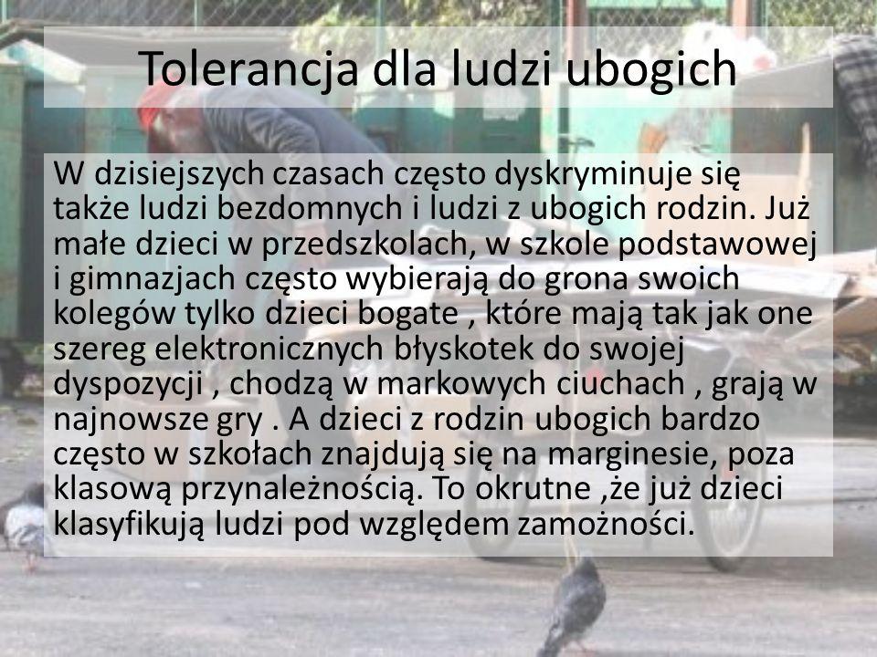 Tolerancja dla ludzi ubogich
