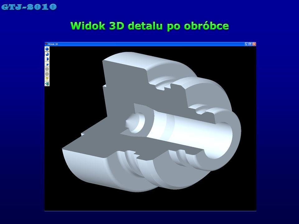 Widok 3D detalu po obróbce