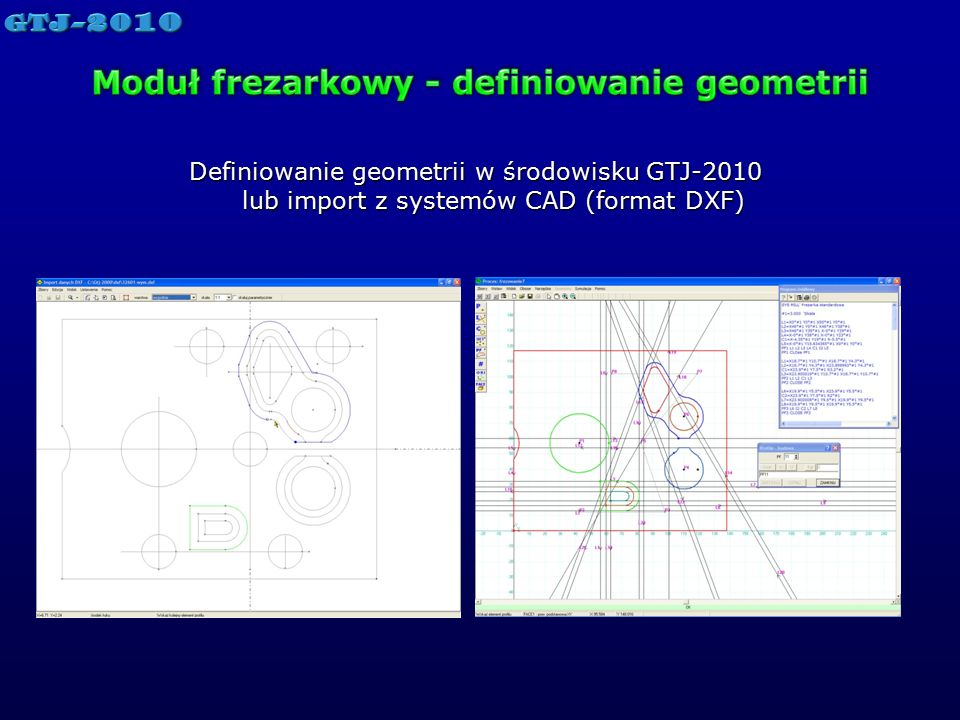 Moduł frezarkowy - definiowanie geometrii
