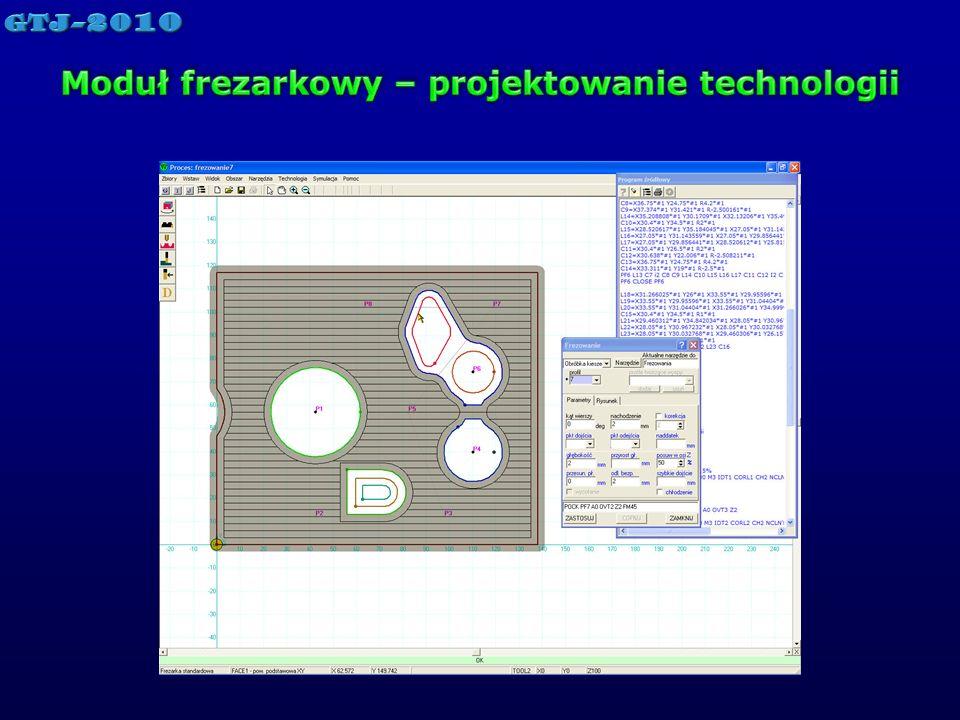Moduł frezarkowy – projektowanie technologii
