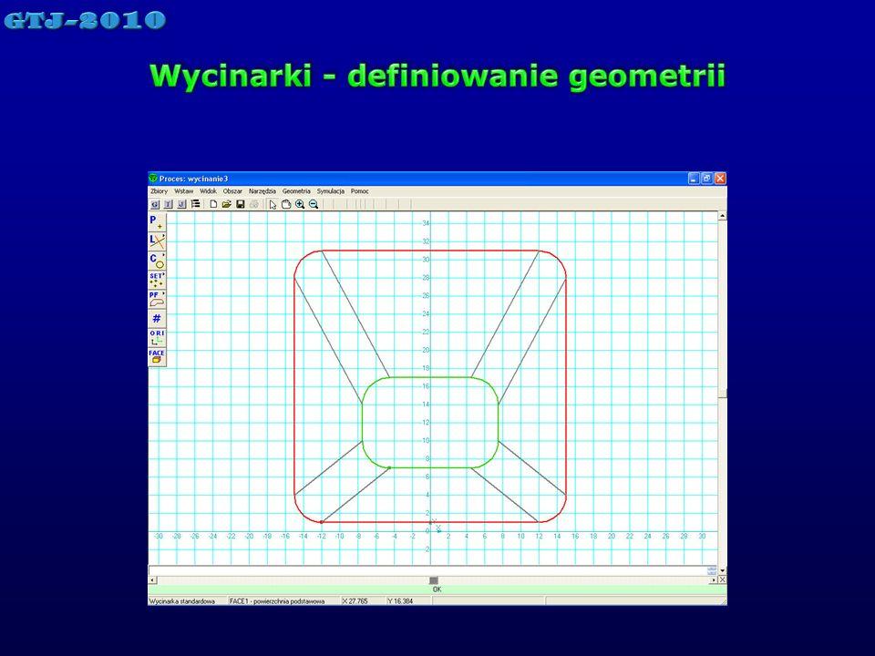 Wycinarki - definiowanie geometrii