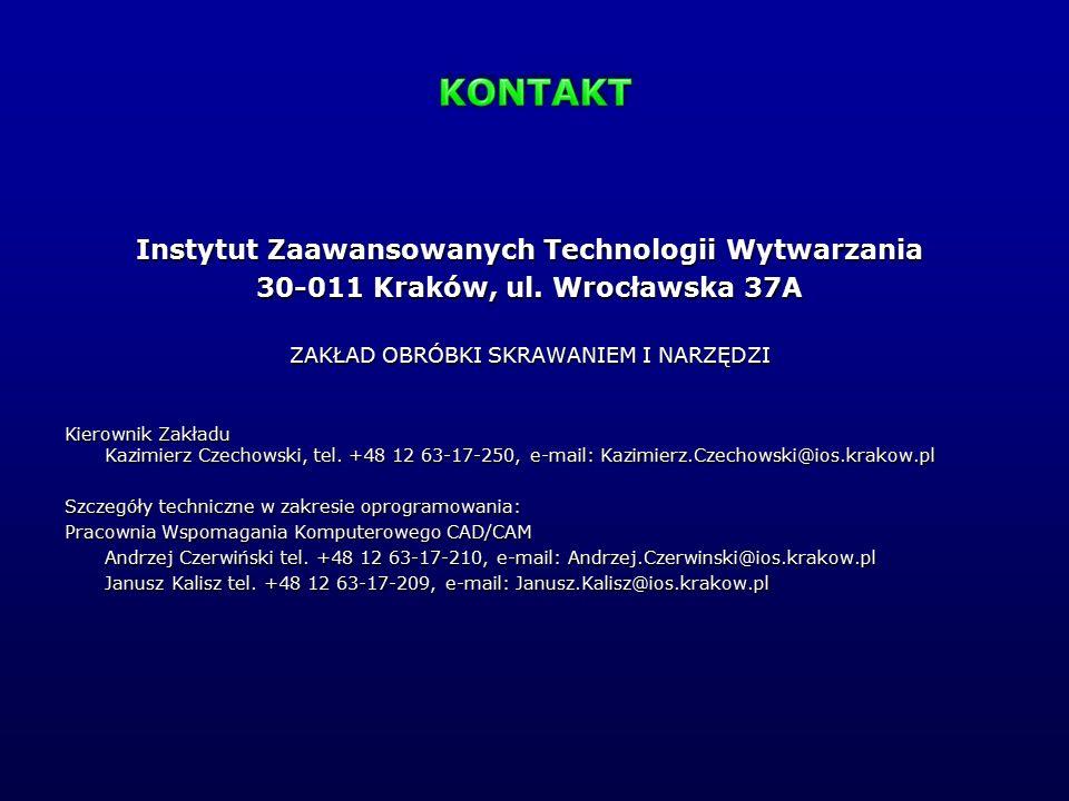 KONTAKT Instytut Zaawansowanych Technologii Wytwarzania