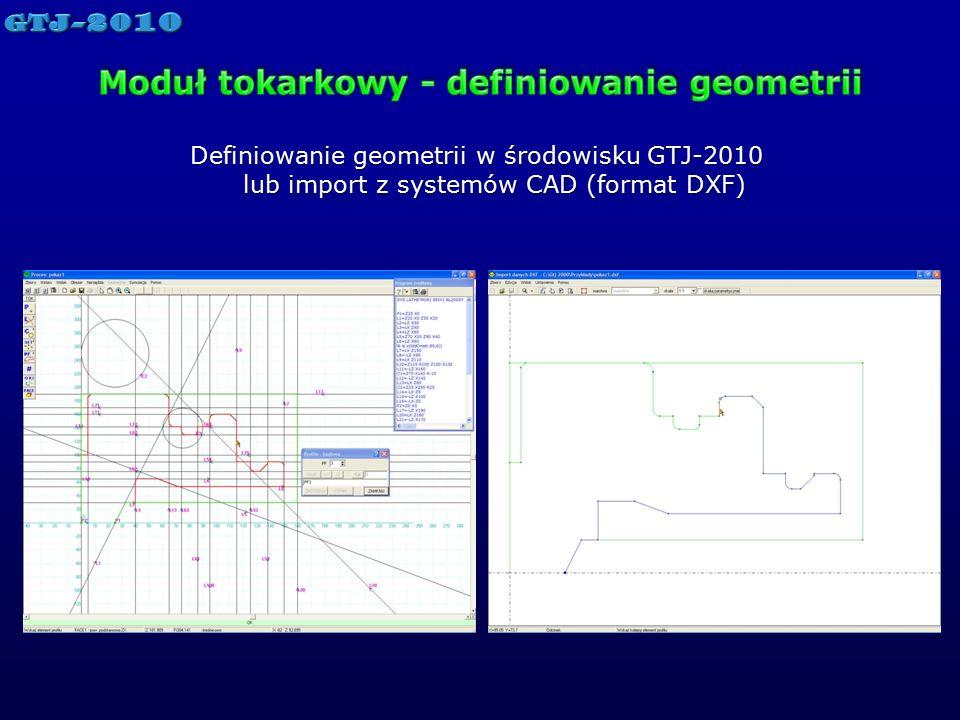 Moduł tokarkowy - definiowanie geometrii