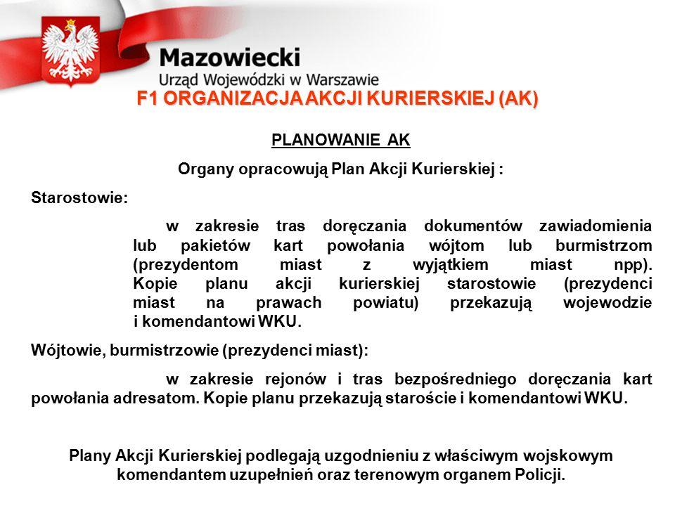 F1 ORGANIZACJA AKCJI KURIERSKIEJ (AK)