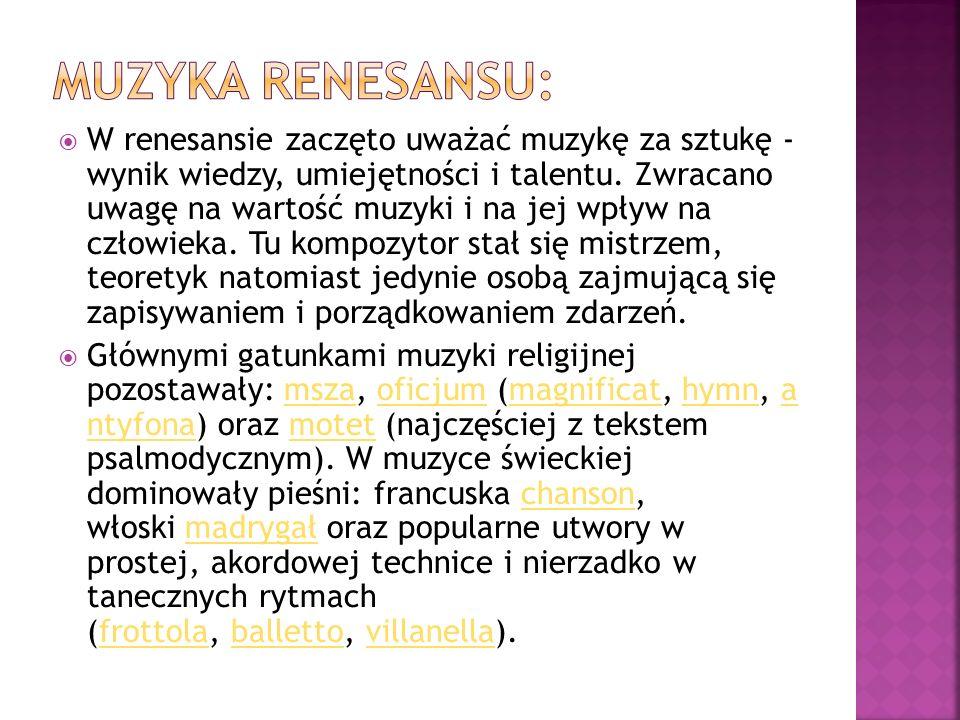 Muzyka Renesansu: