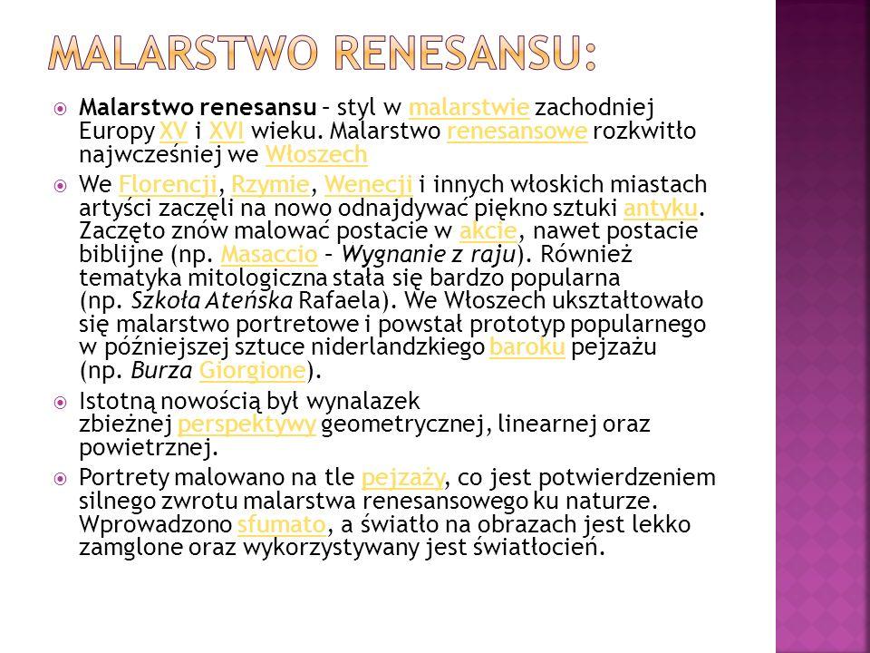 Malarstwo Renesansu: