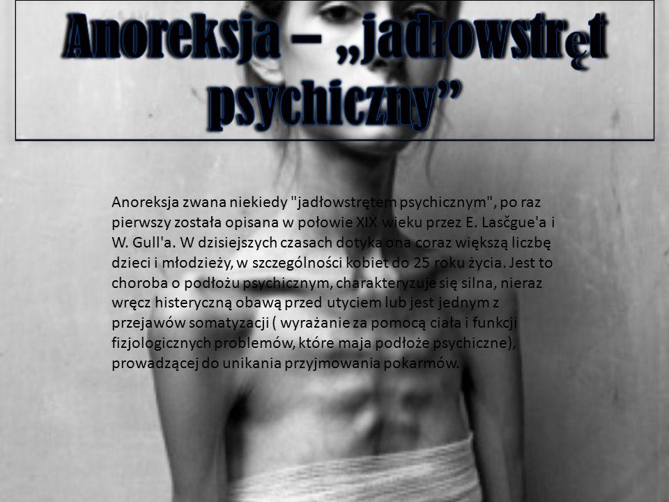 """Anoreksja – """"jadłowstręt psychiczny"""