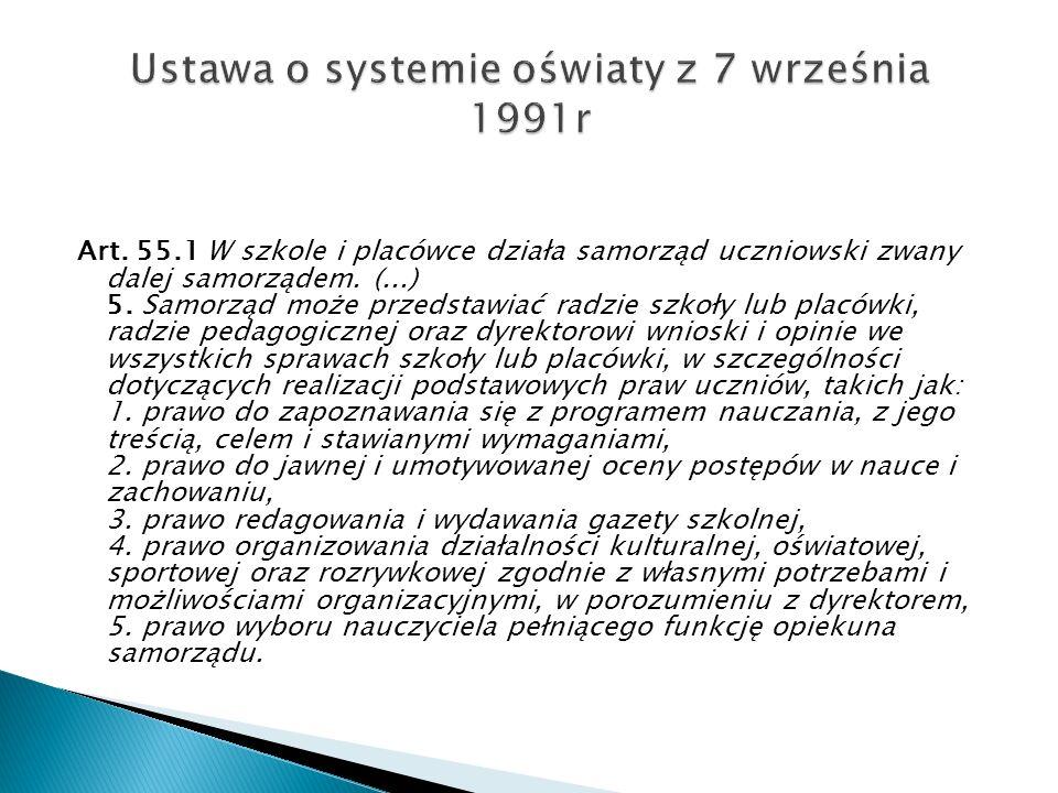 Ustawa o systemie oświaty z 7 września 1991r