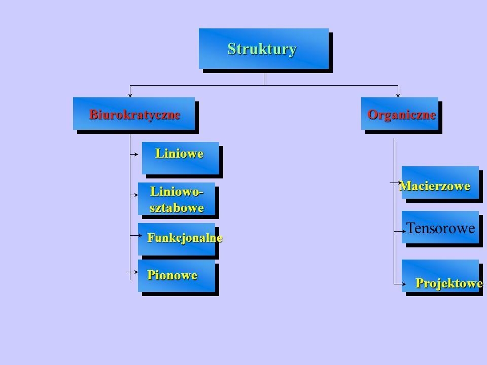 Struktury Tensorowe Biurokratyczne Organiczne Liniowe Macierzowe
