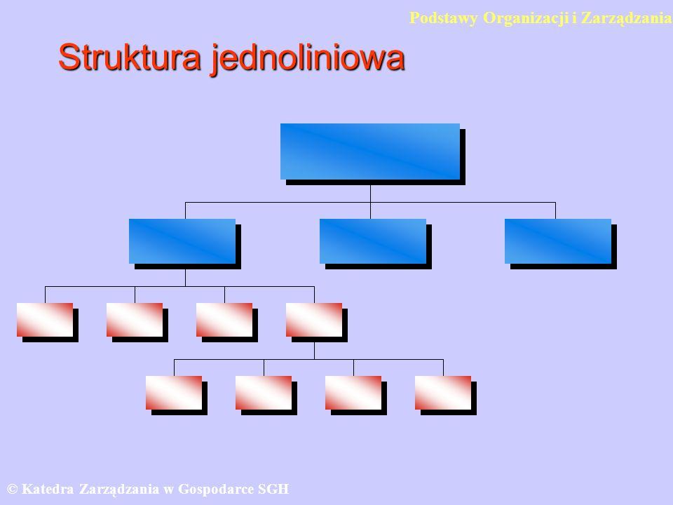 Struktura jednoliniowa