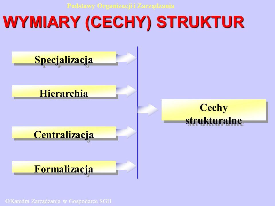 WYMIARY (CECHY) STRUKTUR