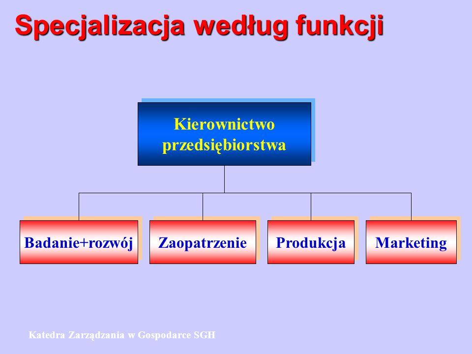 Specjalizacja według funkcji