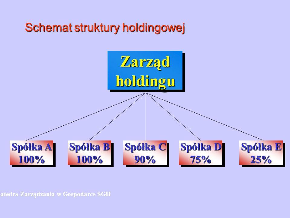 Schemat struktury holdingowej