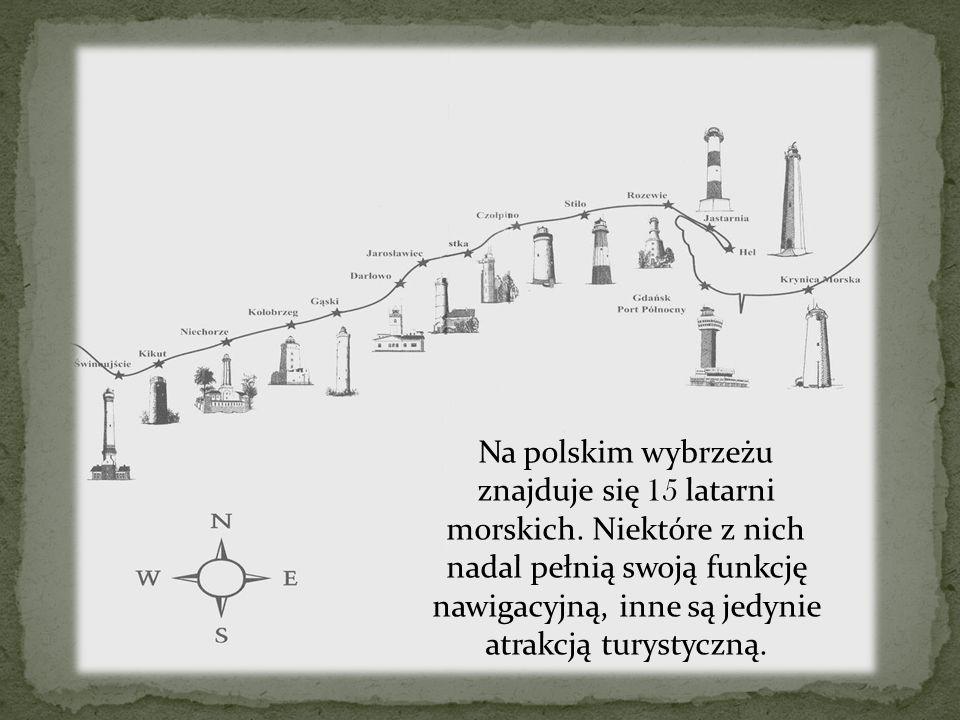 Na polskim wybrzeżu znajduje się 15 latarni morskich