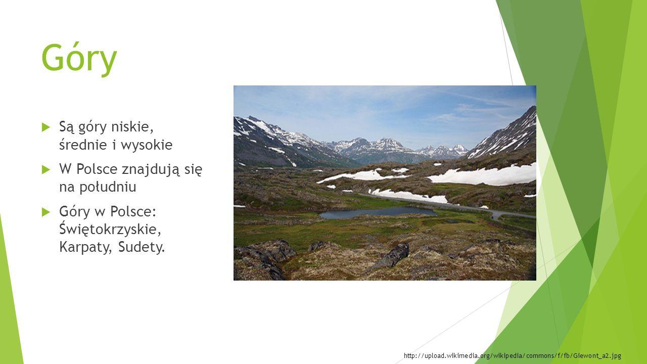 Góry Są góry niskie, średnie i wysokie