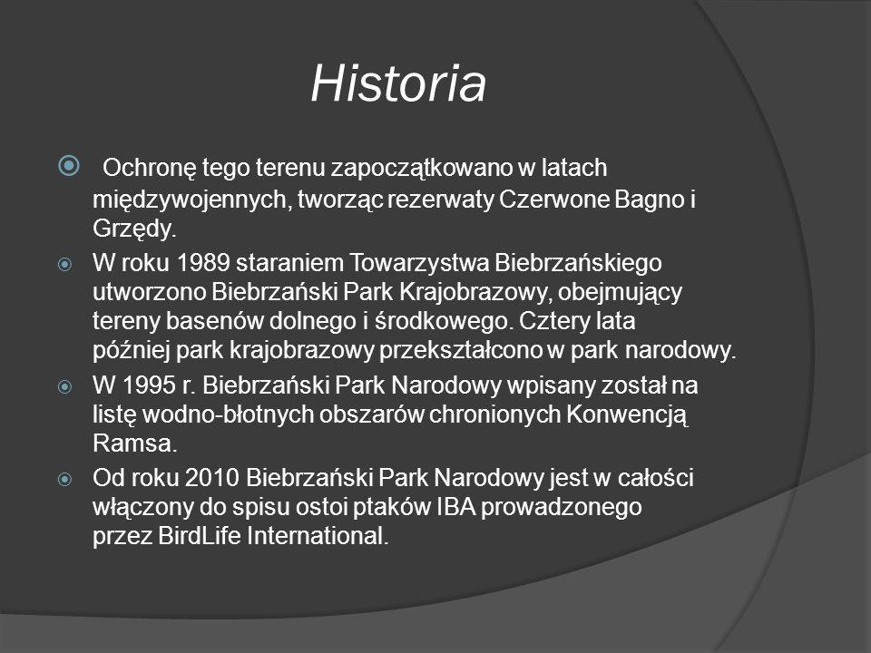 Historia Ochronę tego terenu zapoczątkowano w latach międzywojennych, tworząc rezerwaty Czerwone Bagno i Grzędy.