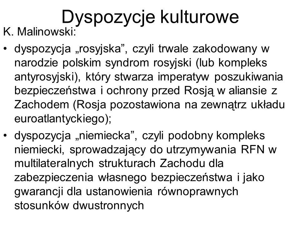Dyspozycje kulturowe K. Malinowski: