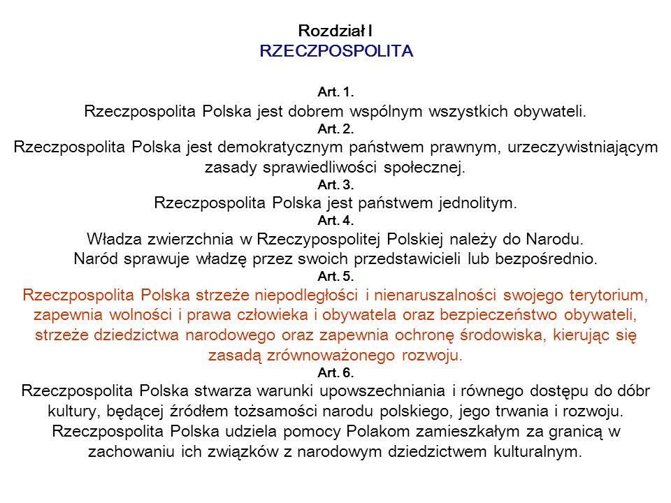 Rozdział I RZECZPOSPOLITA Art. 1
