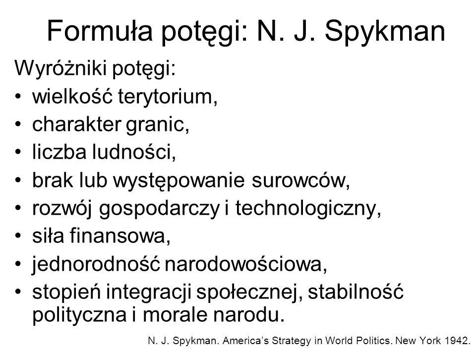 Formuła potęgi: N. J. Spykman
