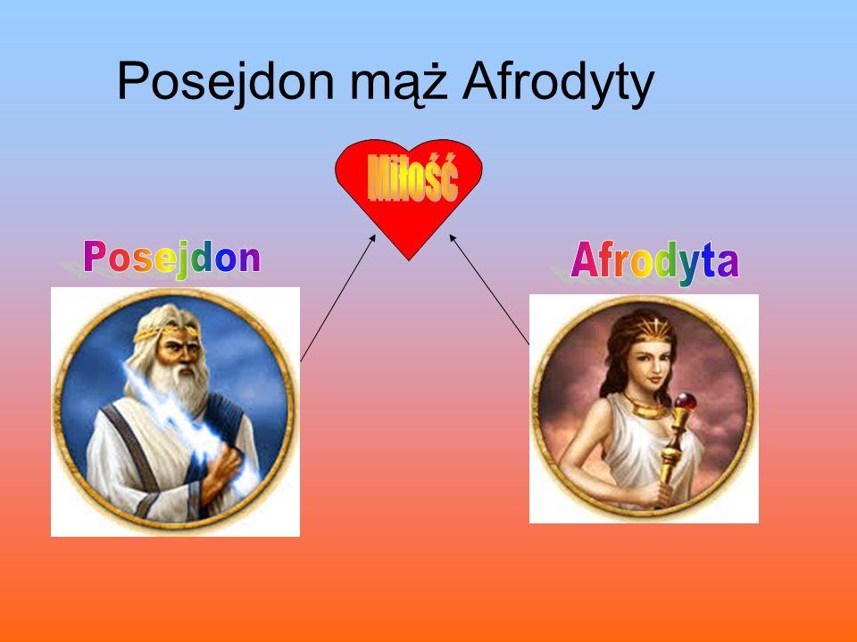 Posejdon mąż Afrodyty Miłość Posejdon Afrodyta