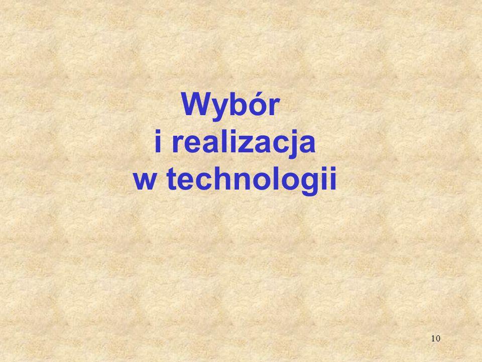 Wybór i realizacja w technologii