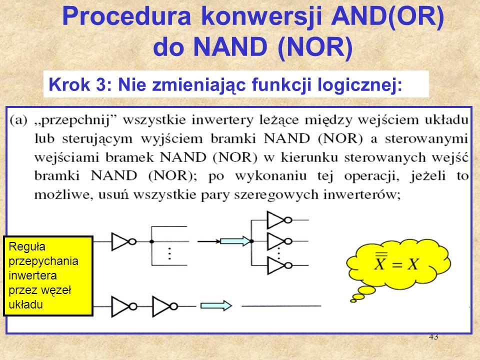 Procedura konwersji AND(OR) do NAND (NOR)
