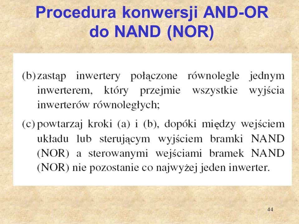 Procedura konwersji AND-OR do NAND (NOR)