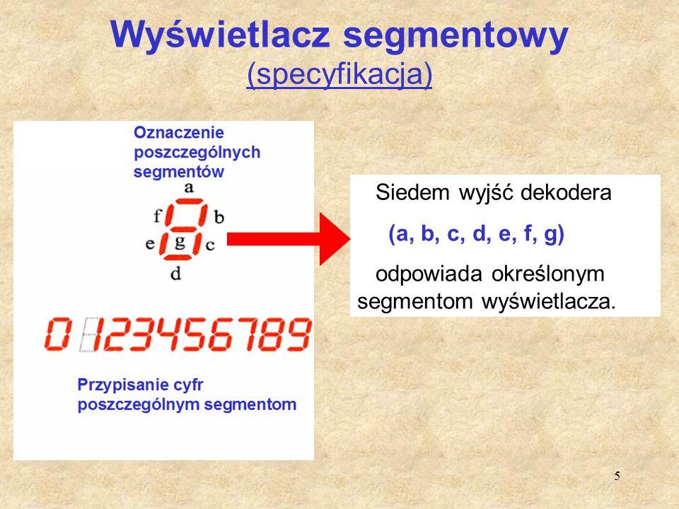 Wyświetlacz segmentowy (specyfikacja)