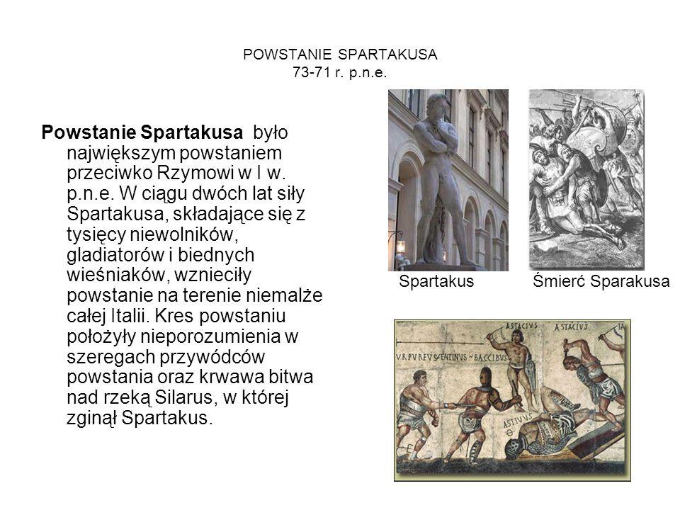 POWSTANIE SPARTAKUSA 73-71 r. p.n.e.