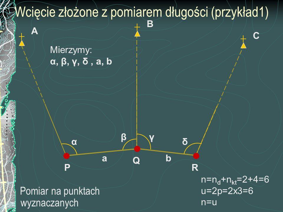 Wcięcie złożone z pomiarem długości (przykład1)