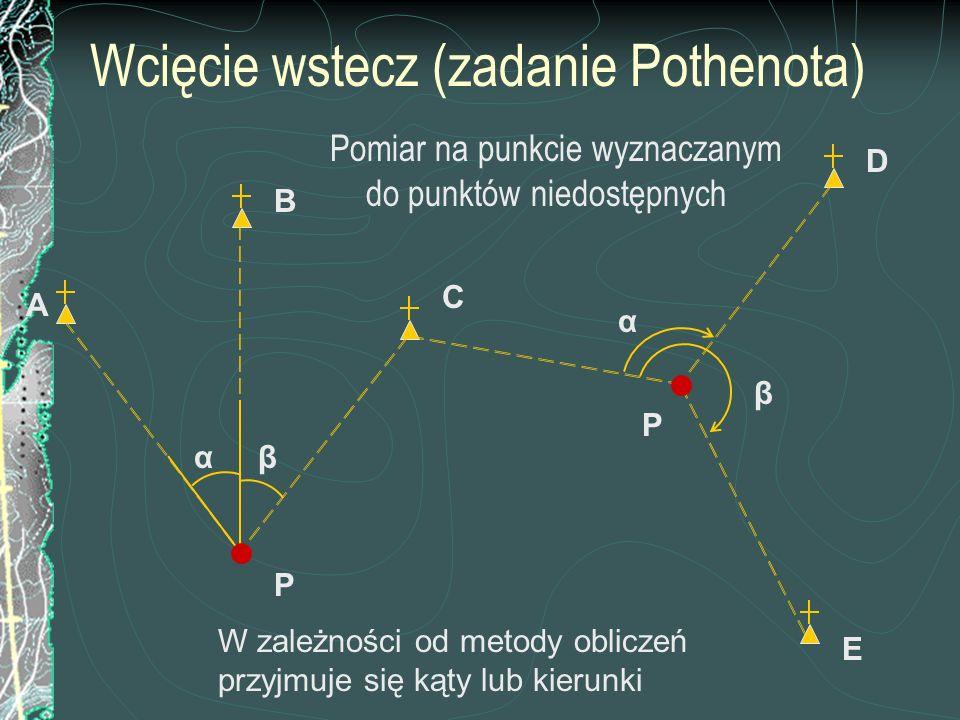 Wcięcie wstecz (zadanie Pothenota)