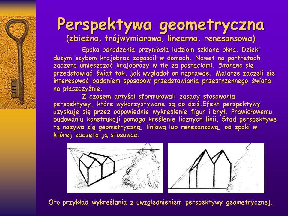 Perspektywa geometryczna (zbieżna, trójwymiarowa, linearna, renesansowa)