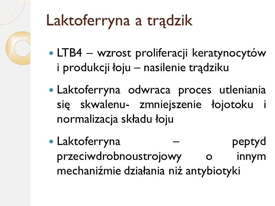 Laktoferryna a trądzik