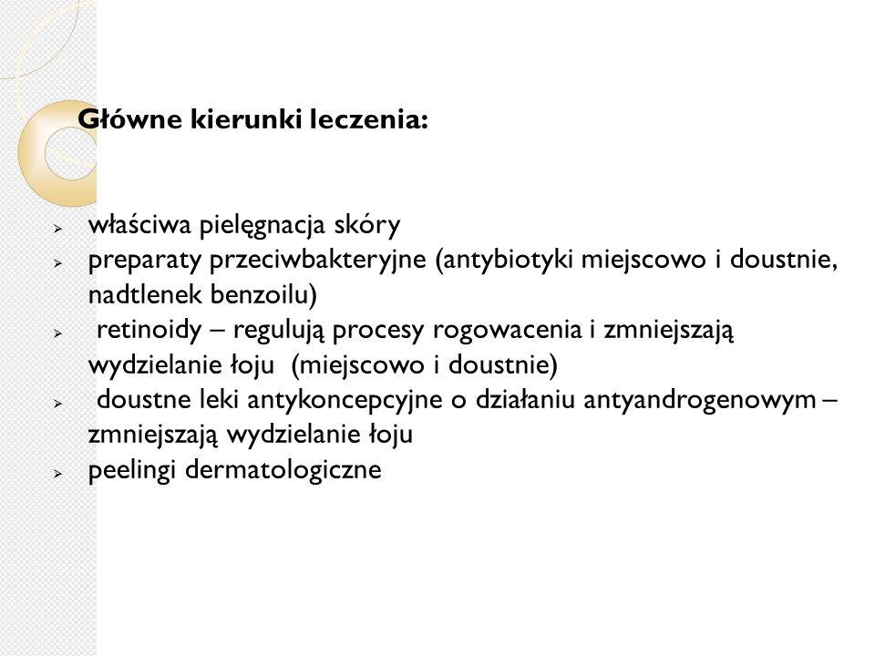 Główne kierunki leczenia: