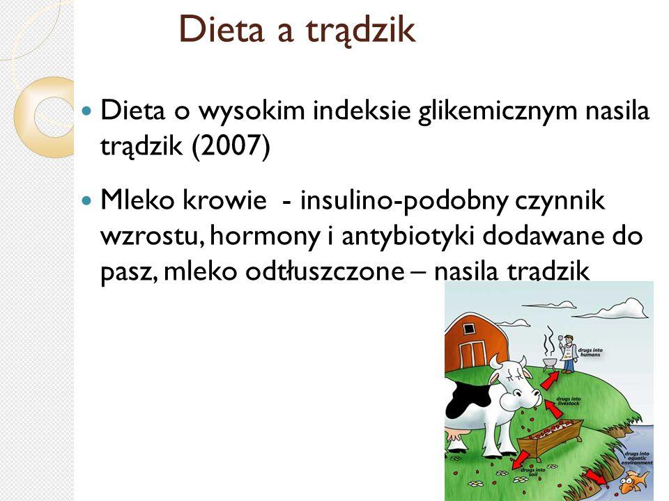 Dieta a trądzik Dieta o wysokim indeksie glikemicznym nasila trądzik (2007)