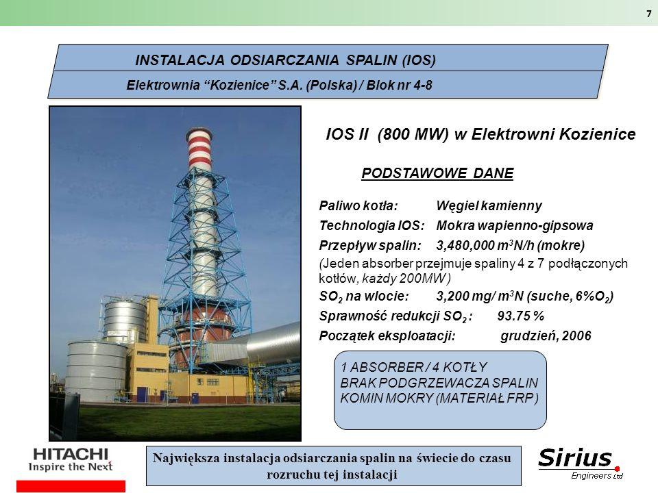 IOS II (800 MW) w Elektrowni Kozienice