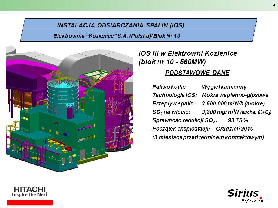 IOS III w Elektrowni Kozienice (blok nr 10 - 560MW)
