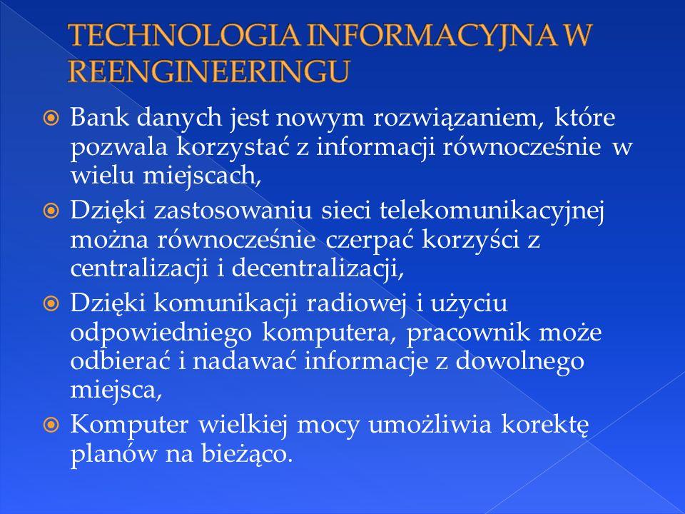 TECHNOLOGIA INFORMACYJNA W REENGINEERINGU