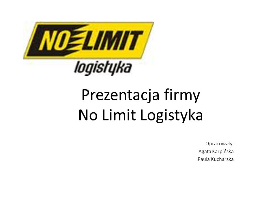 Prezentacja firmy No Limit Logistyka