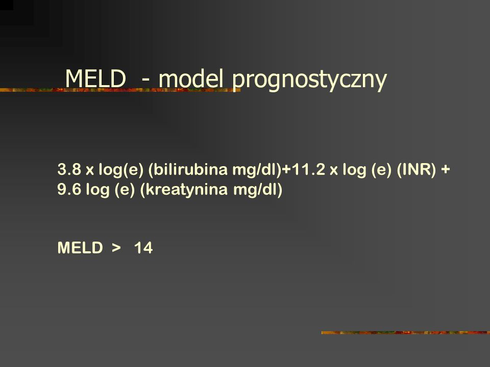 MELD - model prognostyczny