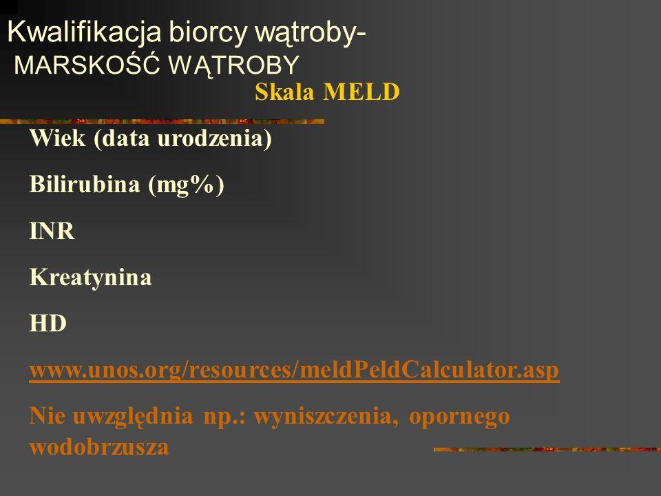 Kwalifikacja biorcy wątroby- MARSKOŚĆ WĄTROBY