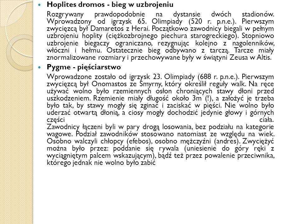 Hoplites dromos - bieg w uzbrojeniu