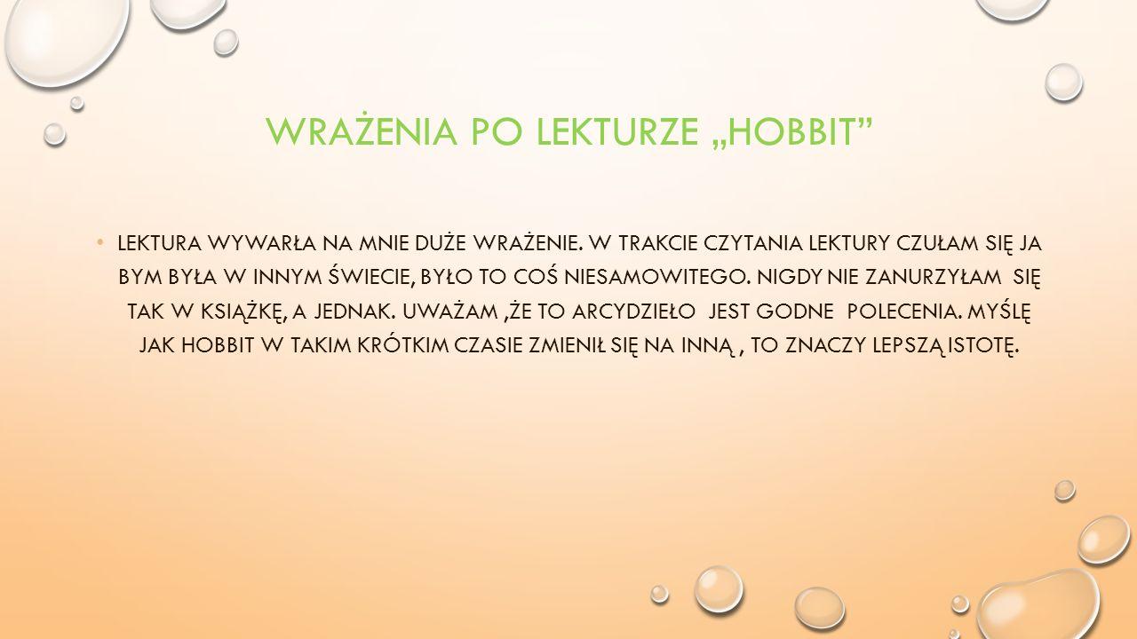 """Wrażenia po lekturze """"Hobbit"""