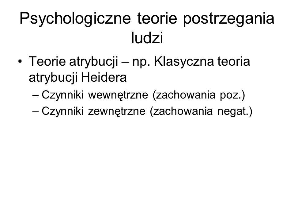 Psychologiczne teorie postrzegania ludzi
