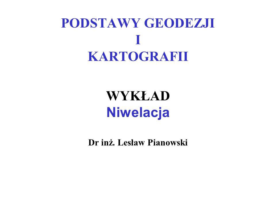PODSTAWY GEODEZJI I KARTOGRAFII